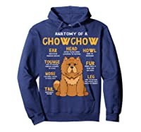 Chow Chow Funny Anatomy Of Mom Dad Dog Gift T-shirt Hoodie Navy