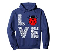 Ladybugs Love Insects Bugs Entomology Sweet T-shirts Gifts Hoodie Navy