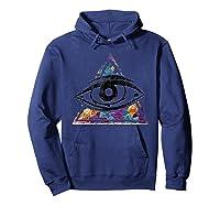 Horus Eye Egyptian Sacred Geometry Illuminati Ankh Egypt Shirts Hoodie Navy