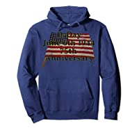 D-day June 6th 1944 75th Anniversary Commemorative 48 Star T-shirt Hoodie Navy
