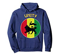 Rasta Live Up Unity Design Shirts Hoodie Navy