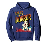 Vintage Horror Movie Poster Funny Halloween Shirts Hoodie Navy