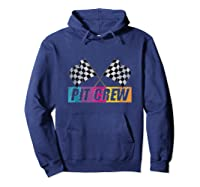 Pit Crew Race Car Party Checkered Flag Car Racing Party Gift Shirts Hoodie Navy