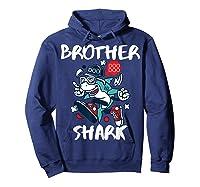 Brother Shark Doo Doo Bro Fun Uncle Birthday Gift Idea Shirts Hoodie Navy