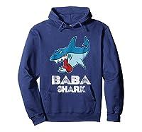 Baba Shark Shirts Hoodie Navy