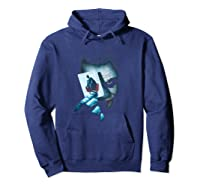 Batman Dark Knight Joker T-shirt Hoodie Navy
