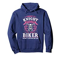 Proud Biker\\\'s Wife Forget A Knight In Shining Armor T Shirt T-shirt Hoodie Navy