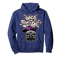 Back To School (in Purple) T-shirt Hoodie Navy