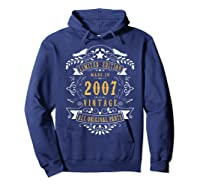 13 Years Old Made In 2007 13th Birthday, Anniversary Gift Shirts Hoodie Navy