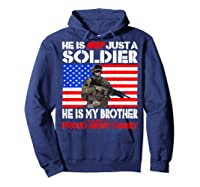 My Brother Is A Soldier Proud Army Family Military Sibling Shirts Hoodie Navy