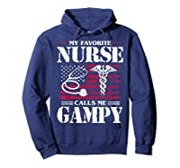My Favorite Nurse Calls Me Gampy Father's Day Gif Shirts Hoodie Navy
