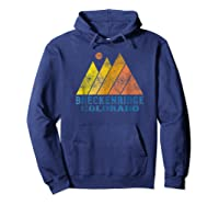 Vintage Breckenridge Colorado Mountain Sunset Retro Shirts Hoodie Navy