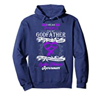 Wear Purple For My Godfather Cystic Fibrosis Support Shirts Hoodie Navy