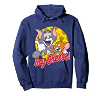 Tom And Jerry Say Cheese Portrait Shirts Hoodie Navy