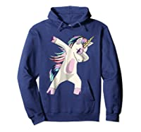 Dabbing Unicorn For Daughter Son Granddaughter Daddy Shirts Hoodie Navy