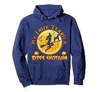 My Irish Terrier Dog Rides Shotgun Halloween Costumes Dogs T-shirt Hoodie Navy