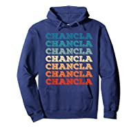 Funny Mexican Mom Gift Chancla T-shirt Hoodie Navy