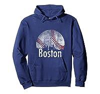 Vintage Boston Baseball Gifts Red Skyline Classic City Tank Top Shirts Hoodie Navy