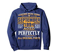 Vintage September 1994 Birthday Gift For 25 Yrs Old D1 Shirts Hoodie Navy
