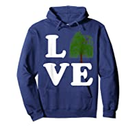 Love Trees Shirt Earth Day Weeping Willow Tee T-shirt Hoodie Navy