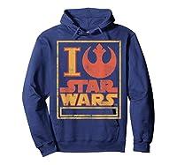 S Rebel Alliance Love Shirts Hoodie Navy