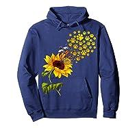 Dog Paw Sunflower You Are My Sunshine T-shirt Hoodie Navy