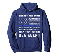 Agent Hero Born As An Officer Thin Blue Line Shirts Hoodie Navy