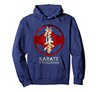 Karate Kyokushin T-shirt Hoodie Navy