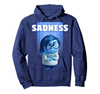 Pixar Inside Out Sadness Portrait Shirts Hoodie Navy