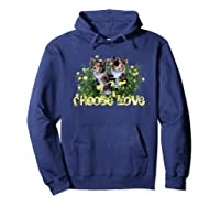Calico Cats In The Roses By Bonnie Vent Shirts Hoodie Navy