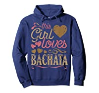 Bachata Latin Dance Gift Dancing Music Shirts Hoodie Navy