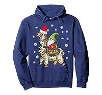Santa Hat Christmas - Santa Gnome T-shirt Hoodie Navy