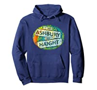 60s 70s Retro Flower Power Haight Ashbury Street Signs 1 Shirts Hoodie Navy