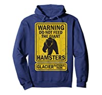 Funny Glacier National Park Grizzly Brown Bear Souvenir Gift Shirts Hoodie Navy