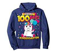 Unicorn Happy 100 Days School Kindergarten Girls Gift Shirts Hoodie Navy