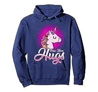 Free Mom Hugs Rainbow Lgbt Pride Unicorn T-shirt Gift Hoodie Navy