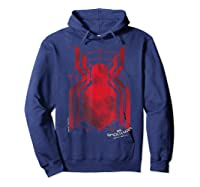 Marvel Spider-man Homecoming Grungy Ink Logo T-shirt C1 Hoodie Navy