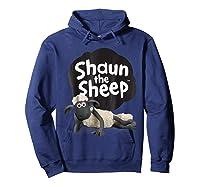 Shaun The Sheep Alt Logo With Shaun Shirts Hoodie Navy
