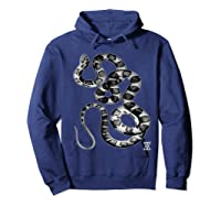 Snake Reptile Boas Herpetology Illustration Shirts Hoodie Navy