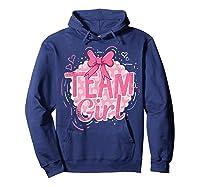 Team Girl Gender Reveal Party Pregancy T-shirt Hoodie Navy