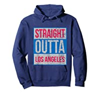 Straight Outta Los Angeles Basketball Shirts Hoodie Navy