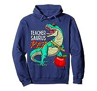 Teasaurus Rex - Funny Dinosaur Tea Appreciation Gift T-shirt Hoodie Navy