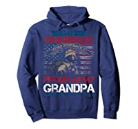 My Grandson Has Your Back Proud Army Grandpa Gift Shirts Hoodie Navy