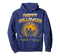 Chesapeake Bay Retriever Dog Happy Halloween T-shirt Hoodie Navy