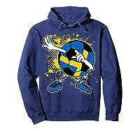 Dabbing Sweden Soccer Tshirt For Football Tee Hoodie Navy