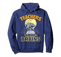 Teas Love Brains Funny Halloween Costume Gift Shirts Hoodie Navy