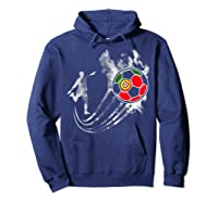 Portugal Soccer Team T-shirt For Fans And Players Hoodie Navy