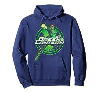 Green Lantern Glow Shirts Hoodie Navy