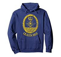 Queen Bee Vintage Beekeeper Mom Mother's Day Wife Gift Shirts Hoodie Navy