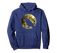 Raven Full Moon Halloween Shirts Hoodie Navy